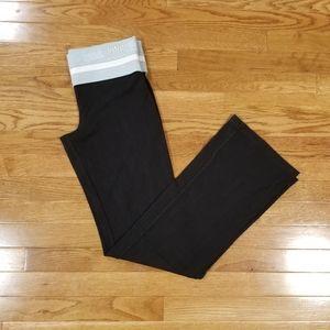 Pink M wide leg fold-over waist leggings